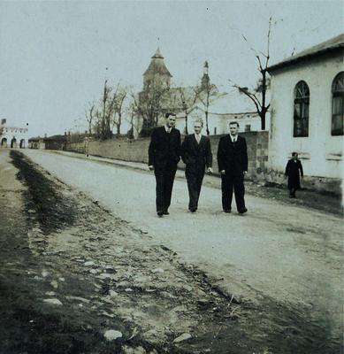 Rynek i  obecna ul. Częstochowska w Przystajni (1930 r.)