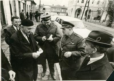 Rynek w Przystajni (ok. 1980 r.)